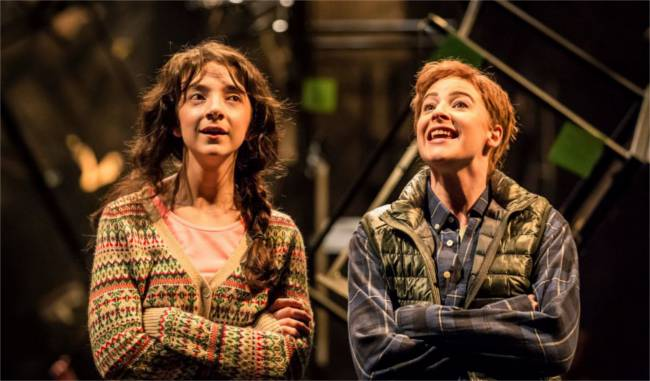 Patsy Ferran and Rosalind Craig in As You Like It.