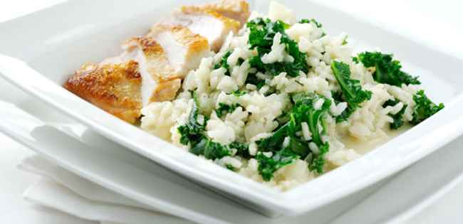 Parmesan and Kale Risotto