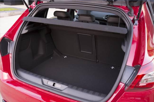 generous boot space Peugeot 308 GTi