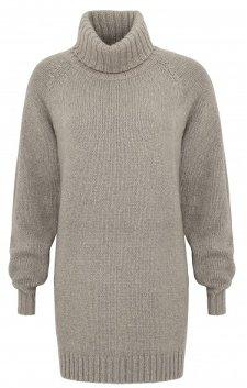 Twiggy grey oversized roll neck jumper