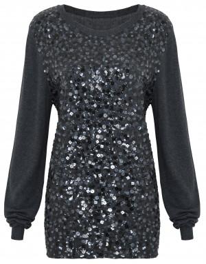 Twiggy black sequin jumper