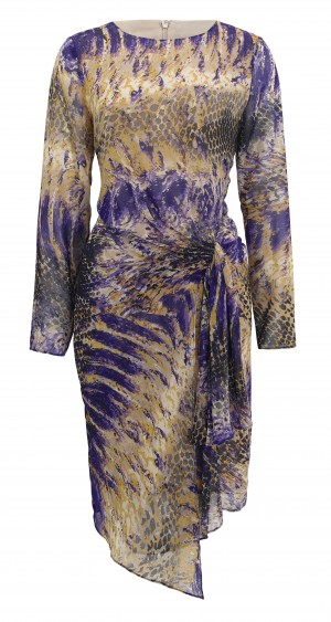 Twiggy purple dress