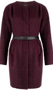 Cranberry Collarless Coat