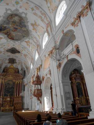 Baroque style Jesuit church of St Xavier