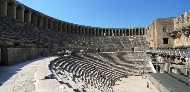 Roman Amphitheatre at Aspendos among best preserved in the world