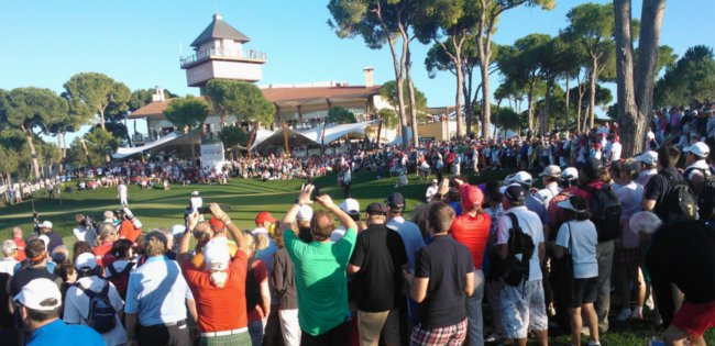 Victor Dubuisson sinks his winning putt in Turkish Airlines Open at Belek