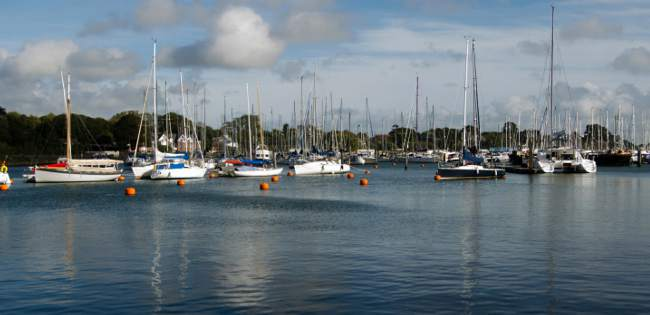 Yachts at Lymington