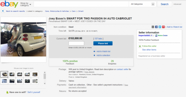 Joey Essex Ebay