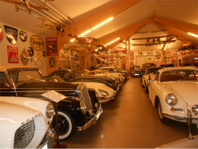 classic car museum at Sparreholms Castle