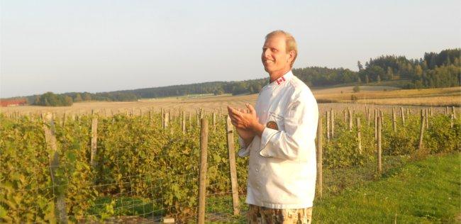 Goran Amnegard of Blaxsta vineyard