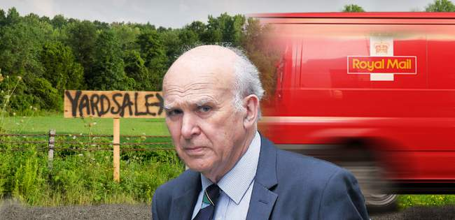 Vince Cable underfire for botched Royal Mail sell-off
