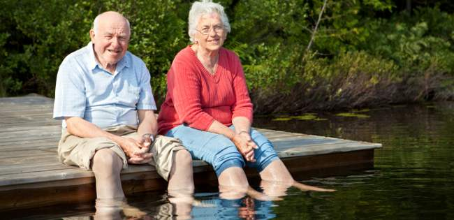 Senior couple enjoying independence in later life