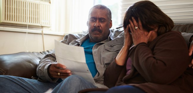 older couple money worries