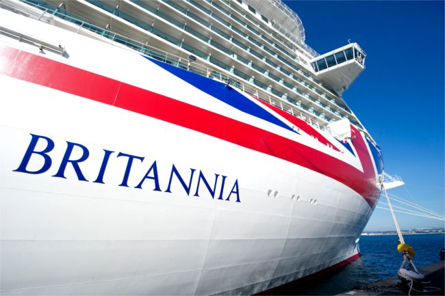 Britannia in dock at Southamptom