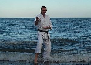 Professor Graham Priest in fighting stance