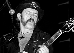 Still handsome after all these years... Lemmy & his bass