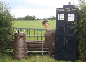 The famous Doctor Who-themed Wrenbury Scarecrow - but can the real thing be taken any more seriously these days?