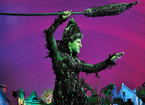Hannah Waddingham's Wicked Witch just prior to some serious housework