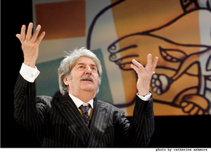 Tom Conti feels the power in Smash (photo by Catherine Ashmore)
