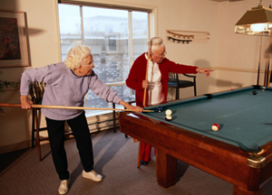 Fun at the care home - but will the elderly keep on getting snookered?