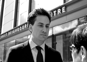 Ed Miliband has a dash of Major Greyness. Image c/o Steve Punter @ Flickr