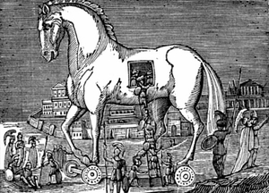 A trojan horse, yesterday