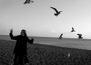 Sarah with gulls (not in the band), image c/o Gaynor Perry