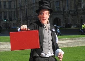 George Osborne, yesterday. No, honest. (Image C/O 38 Degrees @ Twitter)