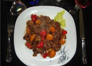 Spicy Beef Meatballs in black pepper sauce