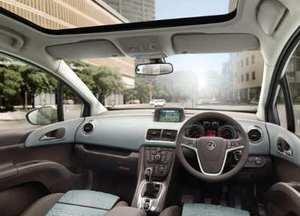 Vauxhall Meriva cabin view