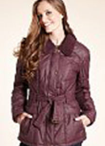 Pure Cotton Padded Waxy Jacket