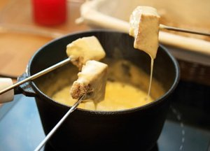 Christmas Cheese fondue