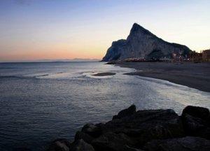 Gibraltar silhouette