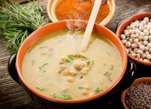 Moroccan chick pea and lentil soup