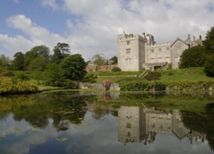 Sizergh Castle, Cumbria, reflected in the lake credit NTPL Val Corbett