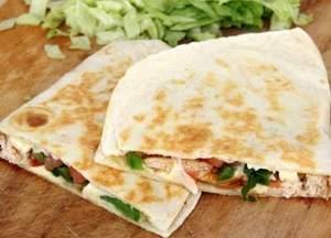 Asparagus and mushroom quesadillas