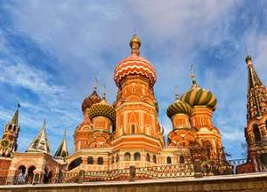 St Basil's Cathederal in Winter, Moscow, Russia