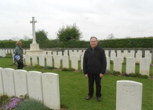 The Mayor of Ors in the soliders' graveyard
