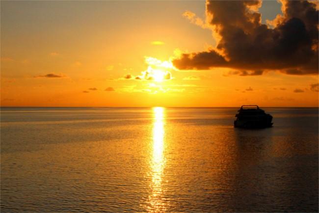 Sunset on Yasawa Princess