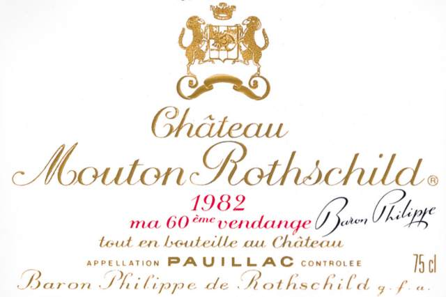 Chateau Mouton Rothschild 1982