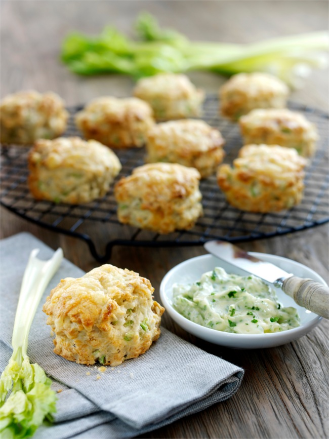 Cheese and celery scone