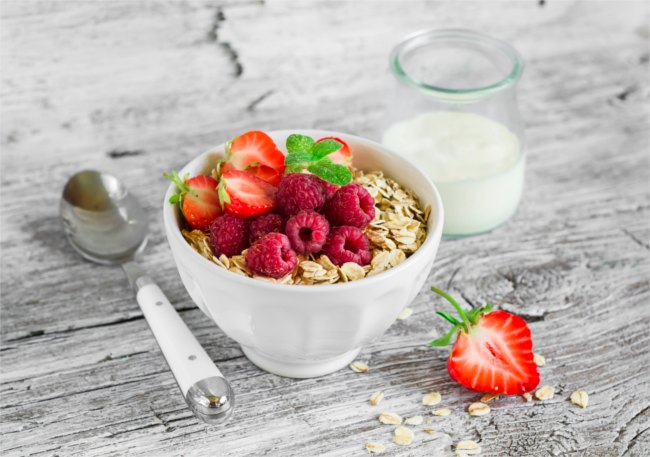 Bowl of oats and berries