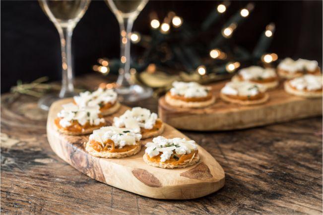 Pumpkin and ricotta tarts