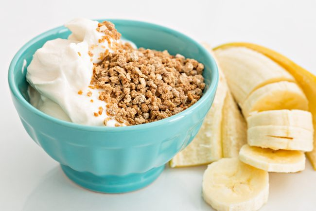 Banana and yogurt