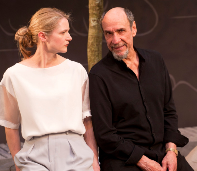 Naomi Frederick and F Murray Abraham in The Mentor at the Vaudeville Theatre