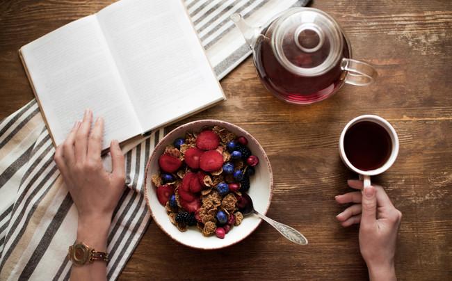 Reading over breakfast