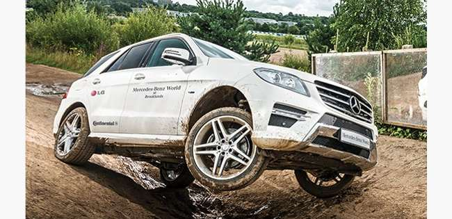 4x4 experience at Mercedes Benz World