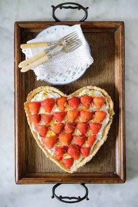 Sweet Eve strawberry, ricotta, lemon and cream tart