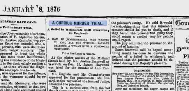 The Times - Ann Tennant murder