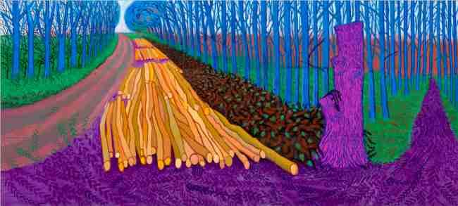 Winter Timber, David Hockney